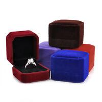 Charm Velvet Engagement Wedding Earring Ring Pendant Jewelry Display Box Gift hi