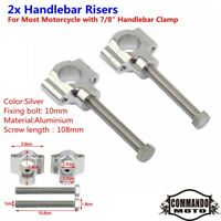 Motorcycle 22mm Aluminum Handlebar Riser Extender For Harley Chopper Bobber New