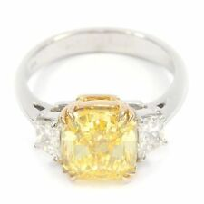 Engagement Yellow Fine Diamond Rings