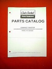 CUB CADET COMPACT TRACTOR FRONT LOADER ATTACHMENT MODEL 475 PARTS MANUAL