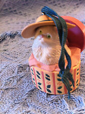 NOS AVON CHRISTMAS DRESS UP ORNAMENT HAT BOX