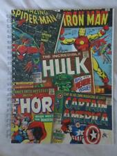 A5 MARVEL SUPERHEROES SPIRAL NOTEBOOK-SPIDERMAN, INCREDIBLE HULK ,IRON MAN etc..