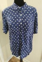 Stonebridge  Blue Star Print Women's Camp US Flag  Size Large