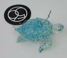 Dept 56 Coast Beaded Turtle Glass Nautical Christmas Ornament 6007292