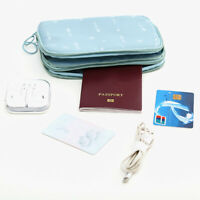 JW_ Waterproof Travel Storage Bag USB Charger Case Data Cable Organizer Zipper