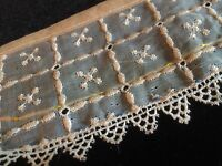 Antique Collar Pic Lace Trim Salvage For Dolls Projects Repairwork Small