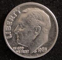 1963 D Roosevelt Dime 0.900 Silver  Double Die Obverse Error (1896)