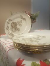 6 Dinner Plates in Castleton Gloria Gold Trim approx. 10 5/8 in. Group 2 Reduced