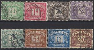z3384) Great Britain. 1924/31. Used. SG D10/11/13/14/15/16/17/18 Dues. c£53+