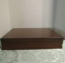 Wooden Silverware Flatware Case Storage Chest Silverplate Anti Tarnish VTG Wood
