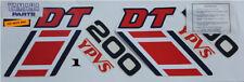 Yamaha DT YPVS vintage decal sticker set