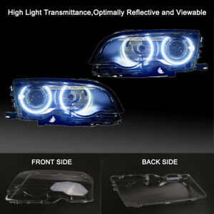Left Side Headlight Cover Bumper Lens For BMW E46 Coupe 2Dr 2000-03 Pre-Facelift