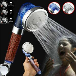 Shower Head 300% High Turbo Pressure 40% Water Saving Laser Ionic 3 Filters UK