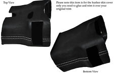 WHITE STITCH STEERING SHROUD LEATHER COVER FITS PORSCHE 986 BOXSTER&CARRERA 996