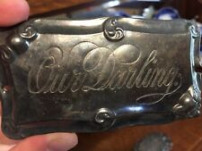 """""""Our Darling"""" Coffin Plaque Oddity Funerary Item"""