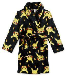 Pokemon Robe Size 4-5, 6-7, 8 Boys Bathrobe Pajamas XS Small S, Medium M NEW NWT