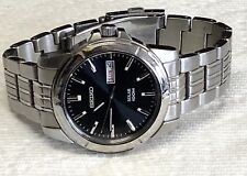 Men's Seiko Solar 100M Watch Date Indicator Stainless Steel Watch   131