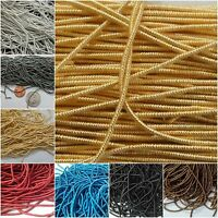 1.5mm THICK SMOOTH REGULAR French Metal Purl Wire Coil Bullion Gimp Cord Jewelry