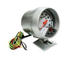 "Universal Jdm 3.75"" Tachometer Gauge Meter 0-8000 RPM LED Shift Light 7 Colors"