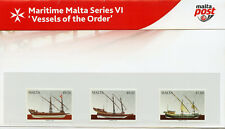 Malta 2018 MNH Maritime VI Vessels of the Order 3v Pres Pack Boats Ships Stamps