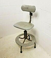 Vintage Machinist Chair Industrial Original Retro