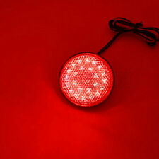 24LED Motorcycle Round Reflector light Tail Brake Turn Signal Light Lamp new Red