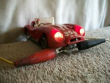 Fab,Marx Ferrari W/Working Head Lights on Parma Chassis & Motor 1/32 Slot Car