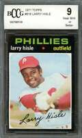 Larry Hisle Card 1971 Topps #616 Philadelphia Phillies BGS BCCG 9