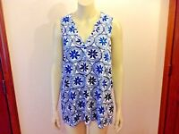 NEW Mud Pie TUNIC TOP Women's Size Large Serena Sleeveless Blouse Cover up