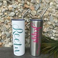 Custom Personalized Stainless Steel Cup Travel Mug 20 oz Tumbler Christmas Gift