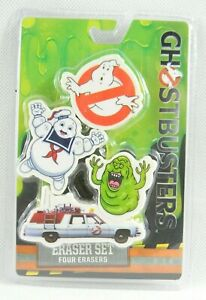 Ghostbusters 4pk Eraser Set New Ghostbusters Eraser Set 4 chunky Erasers New