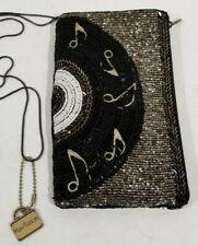 Mary Frances Crossbody Beaded Handbag Off the Record Music Notes