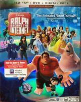 Ralph Breaks The Internet (Blu-ray + DVD + DIGITAL HD, 2019) No Slipcover