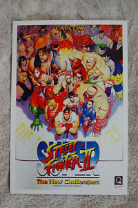 Street Fighter 2  Video Game promotional poster #1 1980s