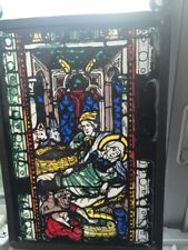 Stain Glass Nativity Sun Catchet Church Window Look Handmade Unusual