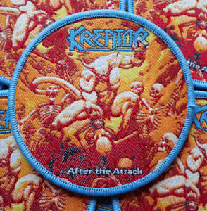 KREATOR - After The Attack [blue] --- Woven Patch