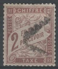 """FRANCE STAMP TIMBRE TAXE N° 26 """" TYPE DUVAL 2F MARRON """" OBLITERE A VOIR N200"""