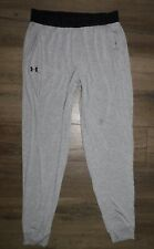 Men's UNDER ARMOUR Gray Athlete Recovery Sleepwear Jogger Pants size Large