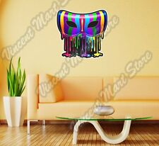 "Carnival Mask Theater Rainbow Colorful Wall Sticker Room Interior Decor 22""X22"""