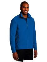 Eddie Bauer Mens Sz Medium Polartec Fleece Jacket Shirt Teal Blue Full Zip M