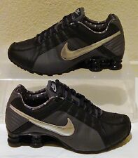 New Nike Shoes Shox Junior Black Silver Womens US Size 9.5 UK 7 EUR 41 CM 26.5