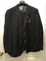 NWT S. Cohen Men's Two Button Wool Pinstripe Gray Suit 52 Regular 52R 48R