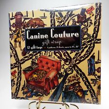 Vtg 1994 Nos Canine Couture Gift Wrap 4 Patterns 12 Gift Tags 12 Sheets 19 x 30