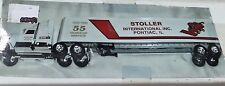 ERTL IH Stoller Pontiac, IL 1990 55th Anniv semi truck and trailer 1/64 NIB