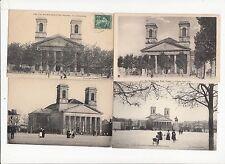 Lot 4 cartes postales anciennes LA-ROCHE-SUR-YON église saint-louis 2