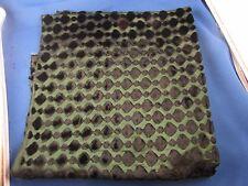 ancien coupon tissus  soierie et velours epoque art deco antique fabric vert 1
