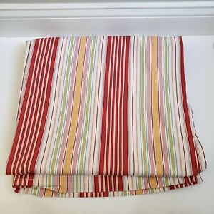 """Pottery Barn Shower Curtain Vertical Stripe Ticking Linwood Cotton 72"""" x 72"""""""
