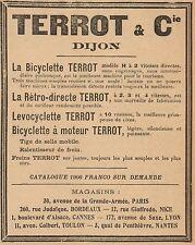 Y8141 Bicyclette à moteur TERROT - Pubblicità d'epoca - 1906 Old advertising