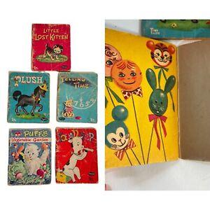 Vintage Whitman Tiny Tales Books Lot of 5 Cute Children's Books