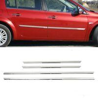 2004-2010 Renault Megane 2 HB SALOON Chrome Side Door Streamer 4Door S.STEEL